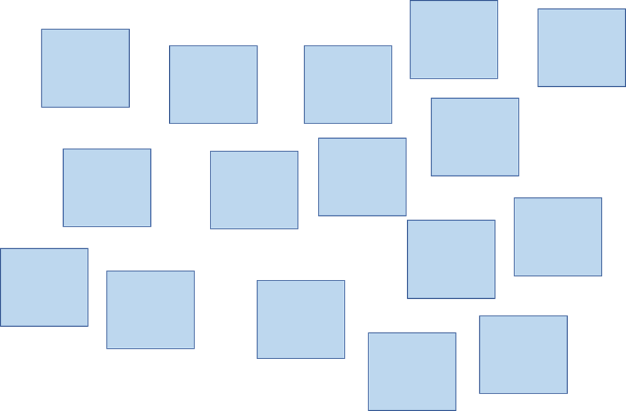 KJ法イメージ図