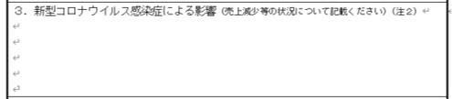 小規模事業者持続化補助金(コロナ特別対応型)の書き方と記入例